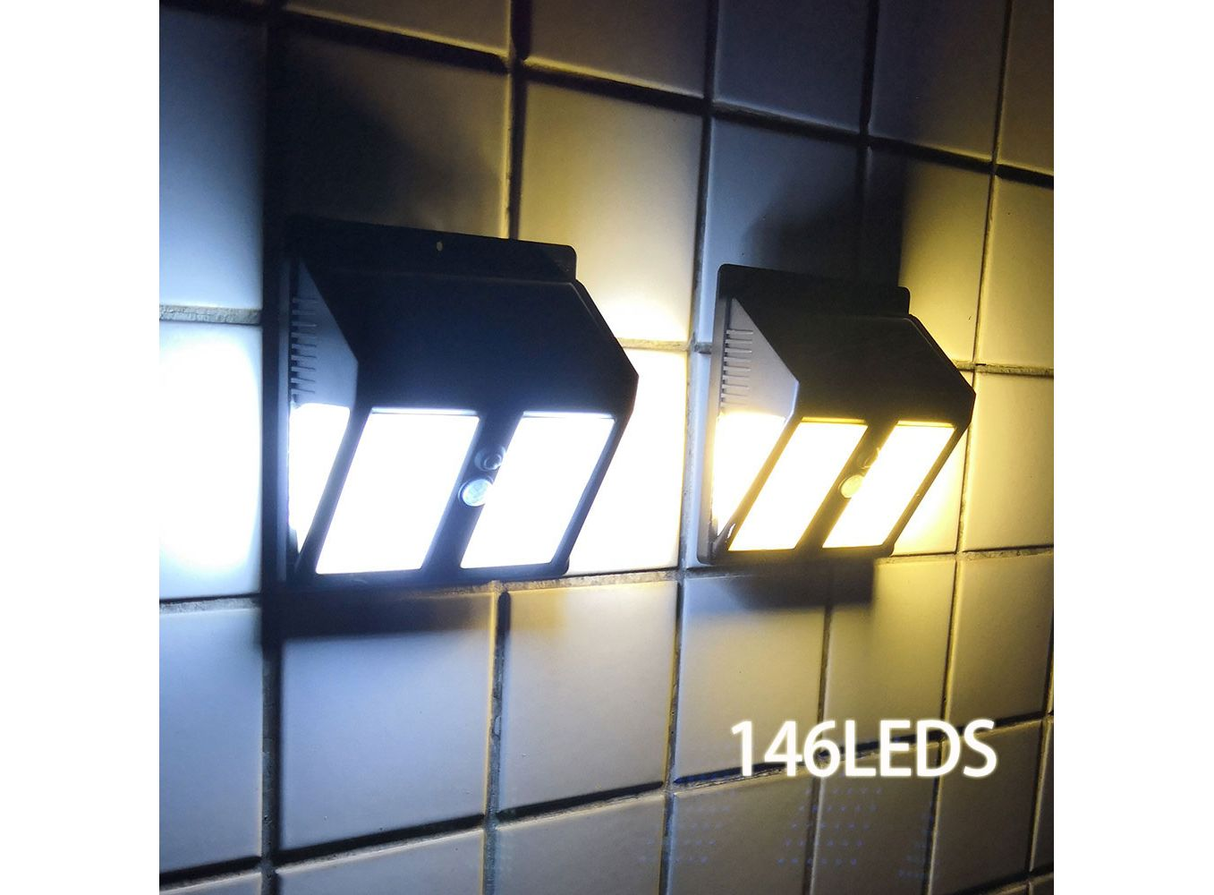 Image of: 1pc New High Quality Wall Lamp Solar Light 6 Led Outdoor Garden Wall Path Yard Landscape Lighting Cool White Warm Rgb Changeable Solar Lamps