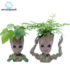 Strongwell Baby Groot Flowerpot Flower Pot Planter Figurines Tree Man Cute Model Toy Pen Pot