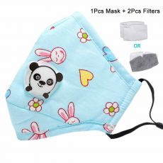 Washable Mouth Mask With Valve Kids Children Anti Haze Dust Mask Nose Filter Face