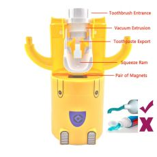 Bathroom Products Automatic Toothpaste Dispenser Cute Squeezers Bathroom Accessories Set Toothbrush Holder For Kids