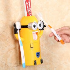 Children's Automatic toothpaste dispenser bathroom accessories Toothpaste Squeezer Toothbrush Holder Products Creative