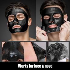 JVR Blackhead Remover Mask for Face Acne Nose Mask Skin Facial Black Mask Purifying Peeling Off Bamboo Charcoal Deep Cleansing