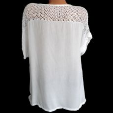 2020 Summer New Women Short Sleeve Solid Color Shirt Fashion Openwork Lace Crochet Shirt Street Casual 5 Color  Shirt Size S-5XL
