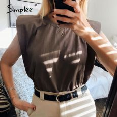Simplee O-neck women tank tops Casual streetwear leisure summer female tops Chic ladies party club wear tops 2020 new fashion