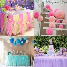 15cm*22m Tulle Roll Organza Fabric Spool Tutu Birthday Gift  Baby Shower Wedding Party Decoration Mariage Supply Kids Favors