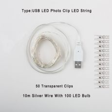 2m/5m/10m Photo Clip String Lights Led Usb Outdoor Battery Operated Garland With Clothespins For Home Decoration String Lights