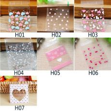50pcs Cute Cartoon Plastic Bag Wedding Birthday Party Favors Cookie Candy Gift Packaging Bags OPP Self Adhesive Pouch Bags
