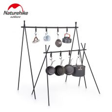 Naturehike Ultralight Indian Hanger Aluminum Alloy Hanging Rack Outdoor Camping Triangular Rack Camp Tableware Cookware Rack