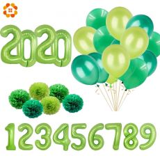 New 32/40 Inch Green Digital Foil Balloons Jungle Party Animal Balloon Kids Birthday Safari Party Forest Party Decoration