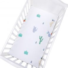 100% Cotton Crib Fitted Sheet Soft Breathable Baby Bed Mattress Cover Cartoon Newborn Bedding For Cot Size 130*70cm