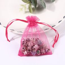 50pcs 5x7 7x9 9x12 10x15 11x16 13x18 15x20 17x23cm Organza Bags Christmas Valentine's Day Party Candy Box Chocolate Gift Bags