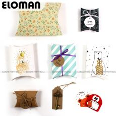 Flamingo pillow box for chocolate candy cookie christmas wedding party baby shower large paper favor gift pillow packaging boxes