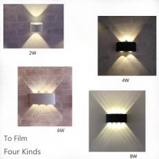 Nordic Wall Lamp Led Aluminum Outdoor Indoor Ip66 Up Down White Black Modern For Home Stairs Bedroom Bedside Bathroom Light