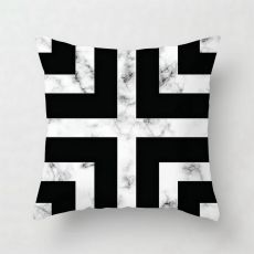 Pink Geometric Abstract Decorative Pillows Case Marble Pattern Flower Designer White and Black Grey Cheap Cushion Cover 45*45 cm
