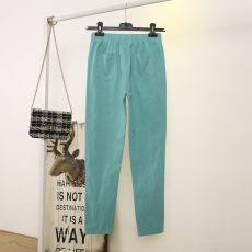 Womens Spring/Summer Harem Pants Cotton Linen Solid Elastic waist Candy Colors Harem Trousers Soft high quality for Female ladys