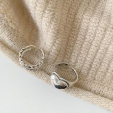 XIYANIKE Prevent Allergy 925 Sterling Silver Rings Vintage Simple Love Chain Finger Jewelry for Women Couple Party Accessories