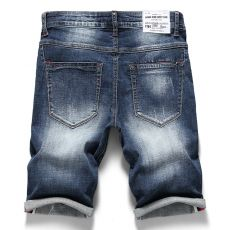 2020 Summer New Men's Stretch Short Jeans Fashion Casual Slim Fit High Quality Elastic Denim Shorts Male Brand Clothes