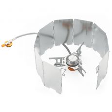 Yofeil 9 plate wind shield screen mini folding outdoor camping cooking pot gas stove windshield aluminum alloy Wind Screen
