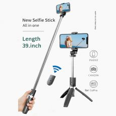 Wireless Bluetooth Selfie Stick Tripod Foldable Tripod Monopods Universal for SmartPhones for Gopro Sports Action Camera