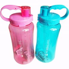 1L/2L Black Oversized Water Bottle 1000ml/2000ml Fashion Portable Herbalife Nutrition Custom Shake Sports Water Bottle