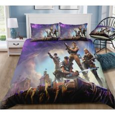 Game Bed Sheet Fortnite Quilt Coverlet Pillow Cases Fortress Night Textile Bedding Flat Sheet Bed Cover Fortnite Bed Sheets Toys