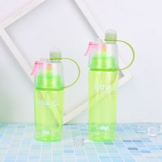 New 400/600Ml 3 Color Solid Plastic Spray Cool Summer Sport Water Bottle Portable Plastic Bike Bicycle Shaker My Water Bottles