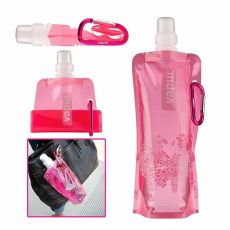 Portable folding Water Bottle with button outdoor sports equipment drinking Water container one piece Sports Water Bottle