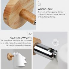 Wall Lamps With Switch Bedside Wall Light Modern Wall Sconce Nordic For Bedroom Macaroon 6 Color Steering Head E27 85-285V