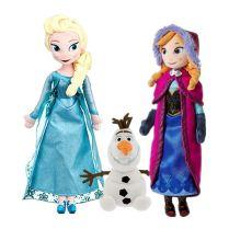 3 Styles Snow Queen Princess Anna Elsa Plush Doll Toys Anna & Elsa Doll