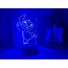 Cute Lilo & Stitch Dancing Figure Night Lamp Color Changing Lighting for Kids Child Bedroom Decor Atmosphere 3d Led Night Light