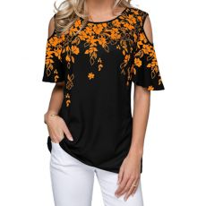 New 2020 Women Summer Loose T Shirt Casual Short Sleeve Tops Tees Sexy Off Shoulder Print O-Neck Vintage T-Shirt Plus Size S-5XL