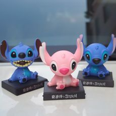 Car Shake Head Mobile Phone Holder Cute Car Interior Accessories Doll Decorative Phone Base Desktop Decoration Toys