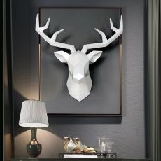 Home Decoration Accessories Geometric Deer Head Abstract Sculpture Room Wall Decor