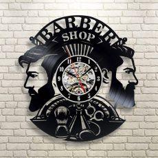 Wall Clock Modern Barbershop Decoration Vinyl Record Wall Clock Hanging Hairdresser Wall Watch