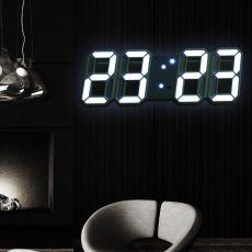Led Digital Wall Clock Modern Design Watch Clocks 3D Living Room Decor Table  Alarm Nightlight