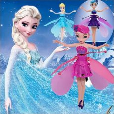 Kid's Princess Cute Dolls fairy RC Toy Infrared Induction drone RC Helicopter Fly
