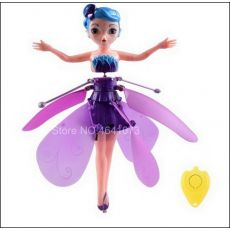 Flyings Luminous Kid's Princess Cute Dolls fairy RC Toy Infrared Induction drone RC Helicopter Fly Quadcopter Drone Kids Toys