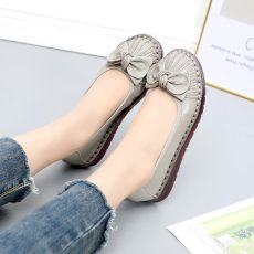 MUYANG 2019 Genuine Leather Spring Autumn Handmade Comfortable Shoes Women Loafers Soft Leather Women Flats Shoes