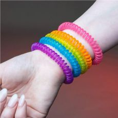 5Pcs Natural Safe Mosquito Repellent Bracelet Waterproof Spiral Wrist Band Outdoor Indoor Insect Protection Baby Pest Control
