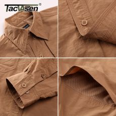 TACVASEN Men's Brand Tactical Airsoft Clothing Quick Drying Military Army Shirt Lightweight Long Sleeve Shirt Men Combat Shirts