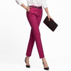 2020 Office Ladies Work Wear Mid waist straight trousers Plus Size 4XL Femme Pantalon Black Gray Women business Formal Pants