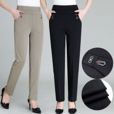 korean style casual pants for women 2020 new fashion high waist woman long pants vintage aesthetic loose suit trousers black
