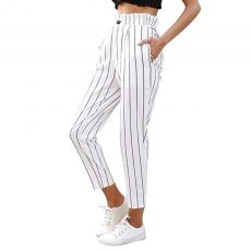 women's pants Striped Slim Straight Leg Casual Button Pants With Pockets trousers women clothes 2019