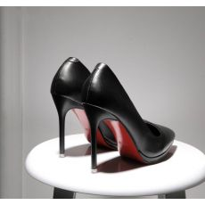 Spring autumn pointed toe women shoes red bottom elegant ladies party patent leather thin high heels