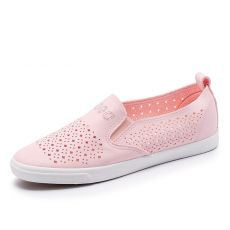 #36#37#38#39 Slipony Women Hole Shoes Ladies Leather Shoes Breathable Women Flats Shoes Vulcanized Slip on Women Sneakers G936