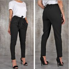 BornToGirl Casual Slim Chiffon Thin Pants For Women High Waist Black Khaki Green Pants