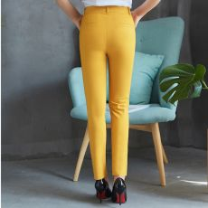 Casual Cotton Ankle-Length 92cm Pants women oversized pants Mid slim waist candy-colored pencil pants joggers women joggers