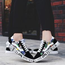 TYDZSMT 2020 Summer Woman Sneakers White Casual Shoes Lovers Printing Fashion  Flats Ladies Vulcanized Shoes Zapatos De Mujer