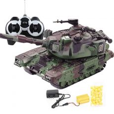 Military War RC Battle Tank Heavy Large Interactive Remote Control Toy Car with Shoot Bullets