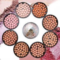 1PC 3 In 1 Blush Eyeshadow Contour Makeup Face Matte Blusher Ball Powder Balls 8 Colors